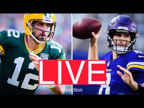 LIVE Packers At Vikings 2nd Half (2018) PLAY-BY-PLAY STREAM REACTION | Green Bay Vs Minnesota