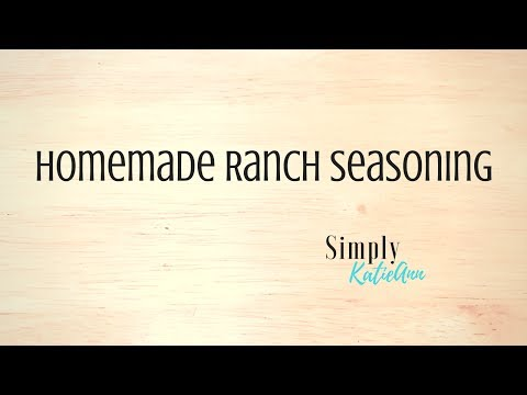 How To Make Ranch Seasoning/Health Journey