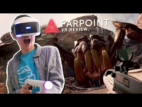 FIGHTING A GIANT ALIEN SPIDER IN VIRTUAL REALITY! | Farpoint VR (PSVR Aim Controller Gameplay)