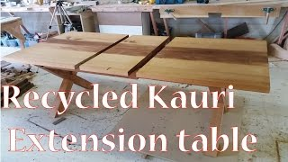 Recycled Kauri extension table