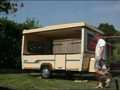 mini caravane sur remorque l g re 500 kg funnydog tv. Black Bedroom Furniture Sets. Home Design Ideas
