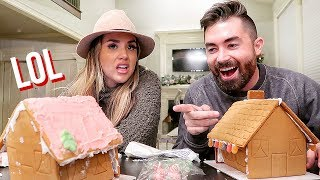 GINGERBREAD HOUSE FAIL! | ALEX AND MICHAEL VLOGMAS