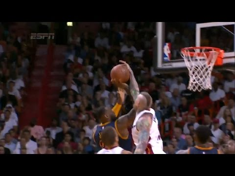 Chris Andersen blocks LeBron James | Cavaliers vs Heat | March 16, 2015 | NBA 2014-15 Season