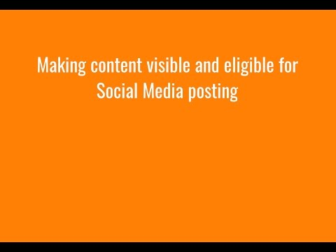 Making blog content visible