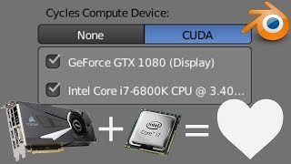 (New Secret Feature) Render With GPU and CPU in Blender