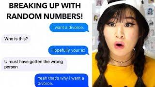 Numbers to to random Creepy texts send