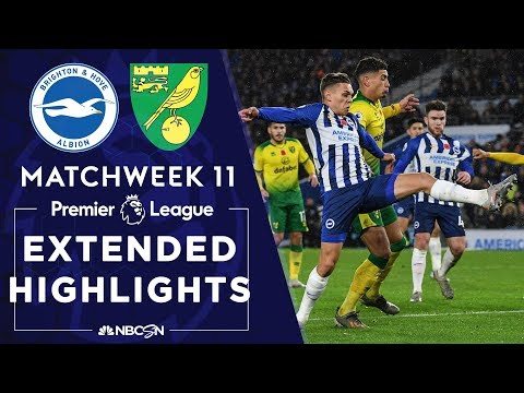Brighton v. Norwich City | PREMIER LEAGUE HIGHLIGHTS | 11/02/19 | NBC Sports