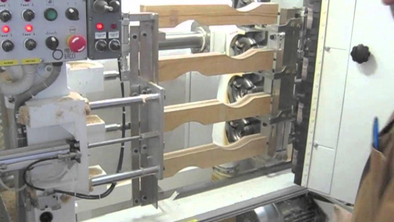 Bacci Copy Lathe Machine Model T4mo Chair Legs Machining
