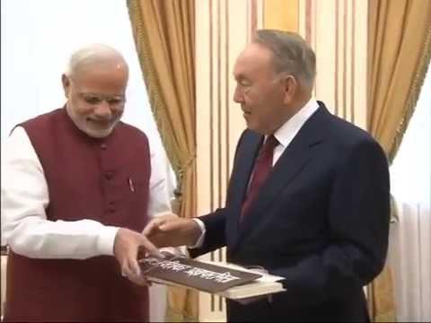 PM Modi meets President of Kazakhstan Nursultan Nazarbayev