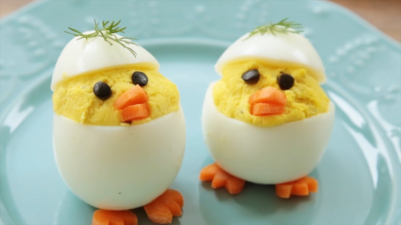 Presentacion huevos rellenos