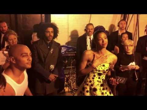 "Hamilton cast watching Lin-Manuel Miranda's emotional ""Love is Love"" speech at the Tonys"