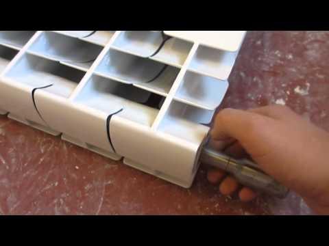 Как соединить несколько секций радиатора одновременно