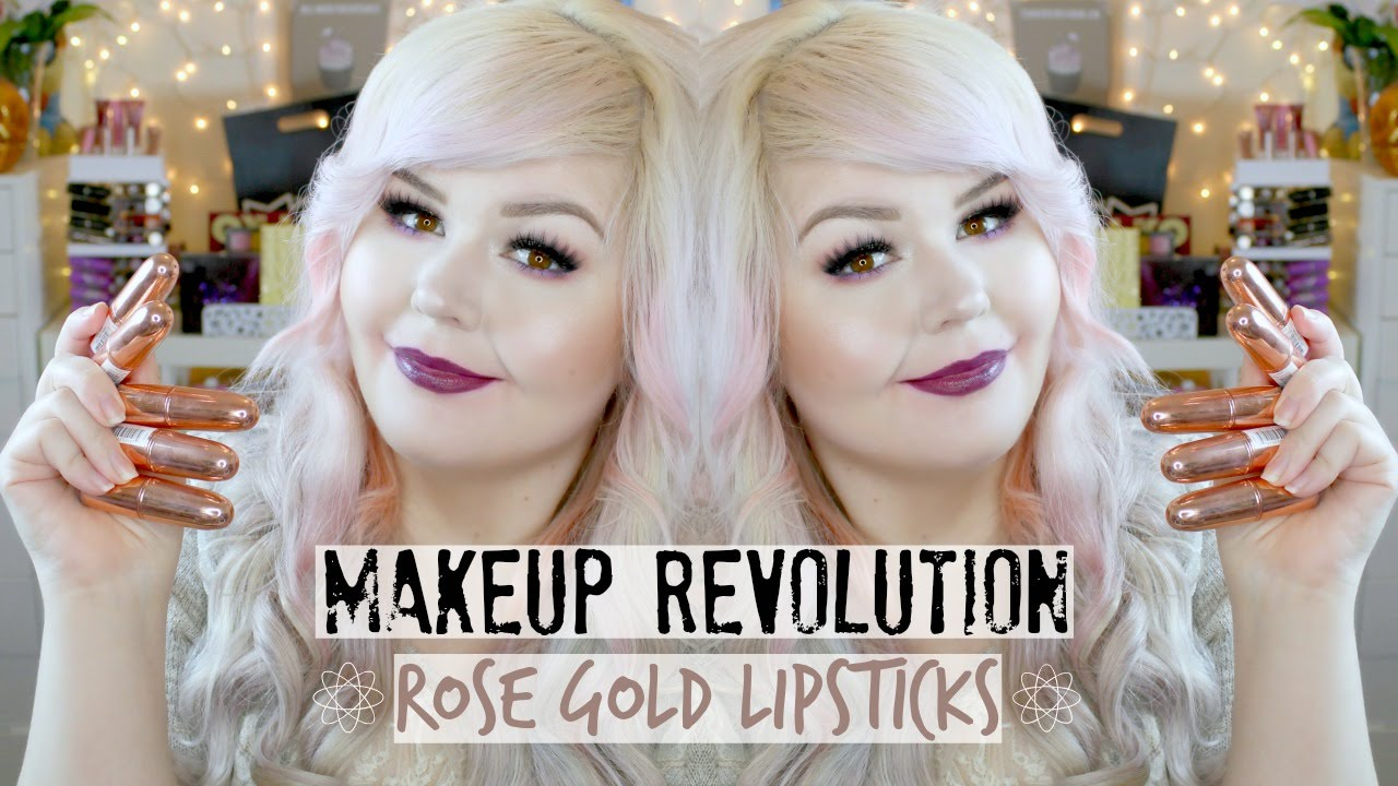 Makeup Revolution Rose Gold Lipstick | Lip Swatches - YouTube