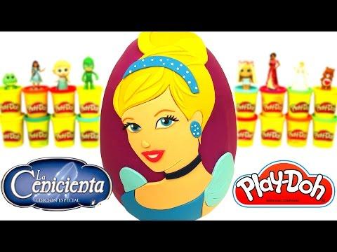 Huevo Sorpresa Gigante de Cenicienta en Español de Plastilina Play Doh