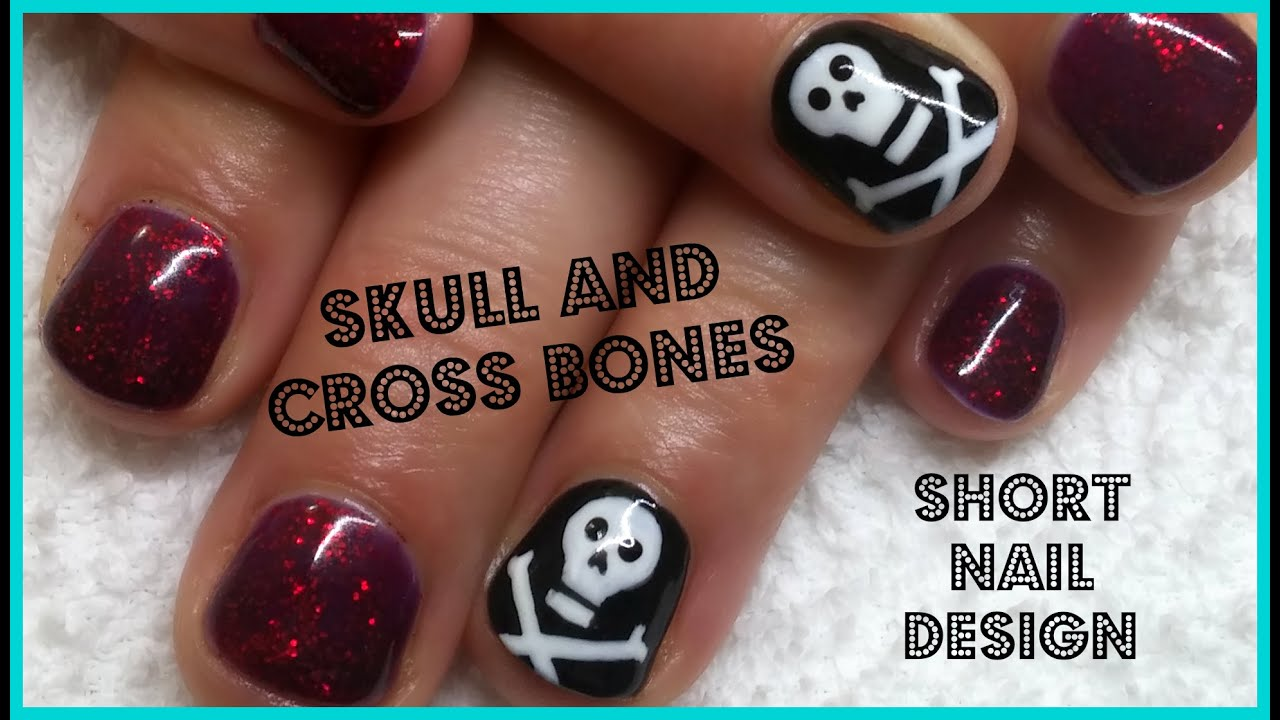 Outstanding Skull And Bones Nail Art Crest - Nail Art Ideas ...