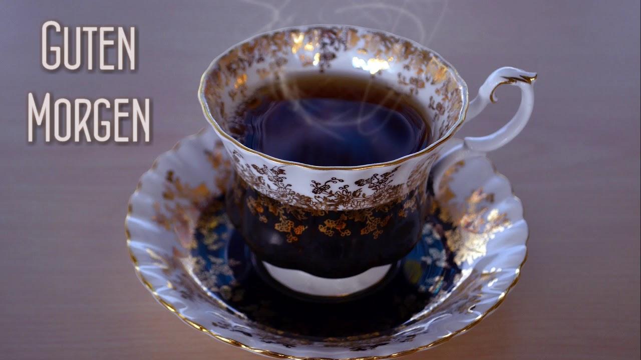 Postkarte Guten Morgen Gruß Und Der Kaffee Ist Auch Fertig