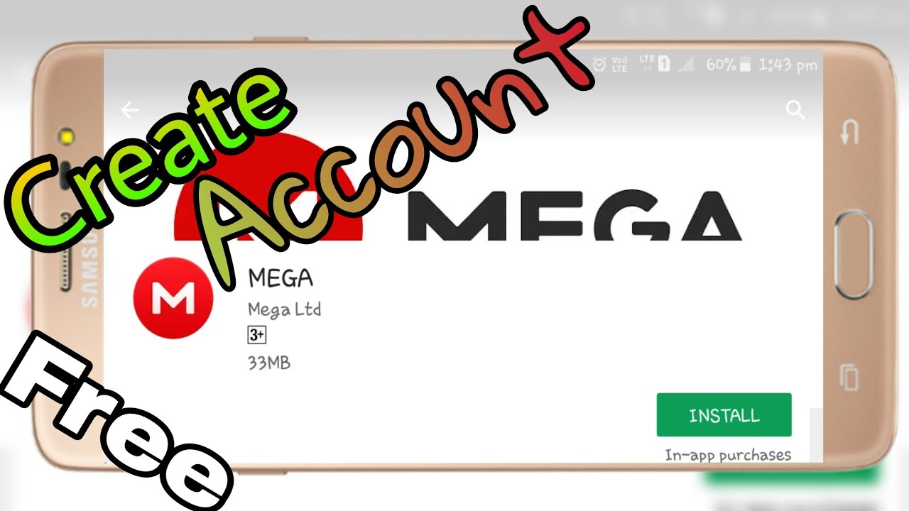 How to create account in mega app