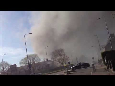 HUGE Bomb Explosion In Llandaff North - Cardiff, Wales. 05/05/13