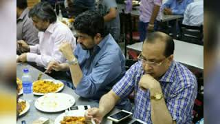 MQM Leader's Eating Nalli Biryani .