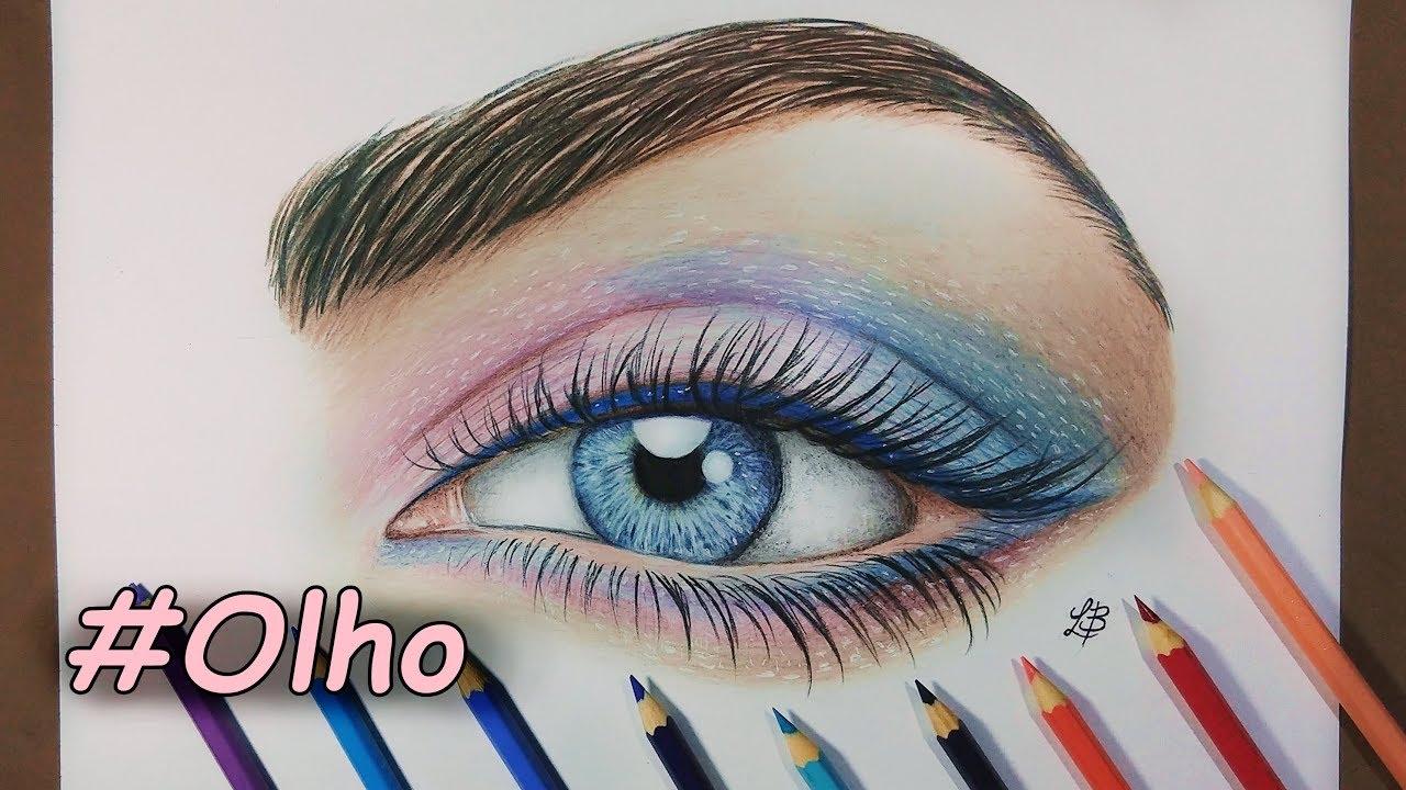 Como Pintar Um Olho Realista Com Lapis De Cor How To Paint A