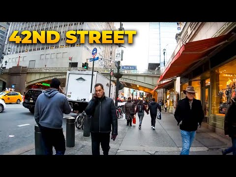 ⁴ᴷ⁶⁰ Walking NYC (Narrated) : 42nd Street, Manhattan from Grand Central Terminal to Hudson River