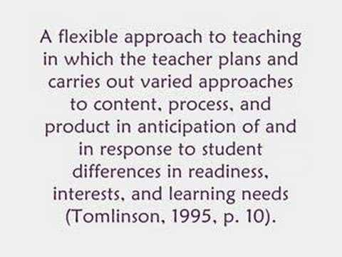 Differentiated Instruction Youtube