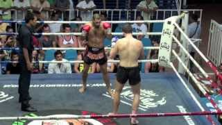 Majid Fallah (Tiger Muay Thai) vs Joe (Lion Muay Thai) @ Bangla Boxing Stadium 7/7/2013
