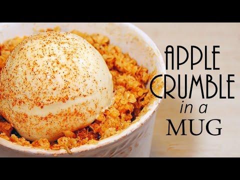 Mug Apple Crumble Easy Recipe簡単アップルクランブルで温かく・・・