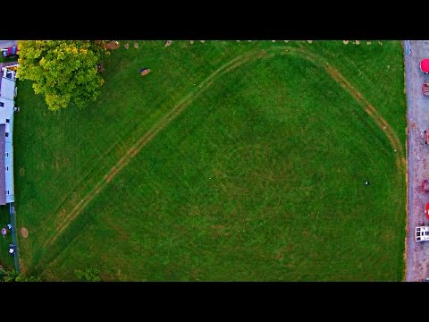 Forgotten Wright Earthworks in Newark, Ohio - Aerial View