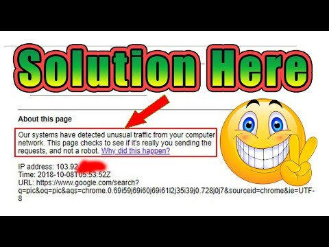 Our Systems Have Detected Unusual Traffic From Your Computer Network || Google Search Problem Solve