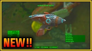 Fallout 4 Alien Blaster Pistol Gameplay | Fallout 4 Rare Weapon Locations Guide
