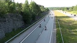 Memorial ride for founder of Cannonball MC from Hyvinkaa to Helsinki Finland June 15th 2012