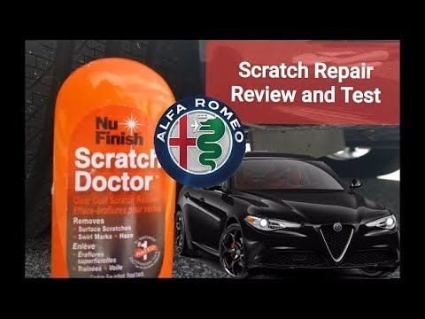 Scratch Repair -  Nu Finish test and Review on the 2020 Alfa Romeo Giulia TI Sport Q2