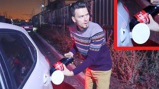 видео Американец заправил BMW кока-колой, и... он даже поехал!