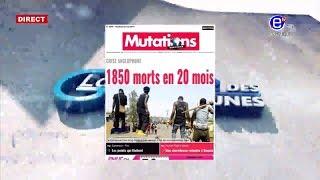 LA REVUE DES GRANDES UNES DU VENDREDI 03 MAI 2019 - EQUINOXE TV