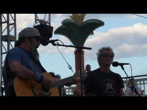 "Steve Earle with Rodney Crowell ""Desperados Waiting For A Train"""
