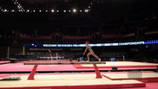 CHUSOVITINA Oksana (UZB) - 2015 Artistic Worlds - Qualifications Balance Beam