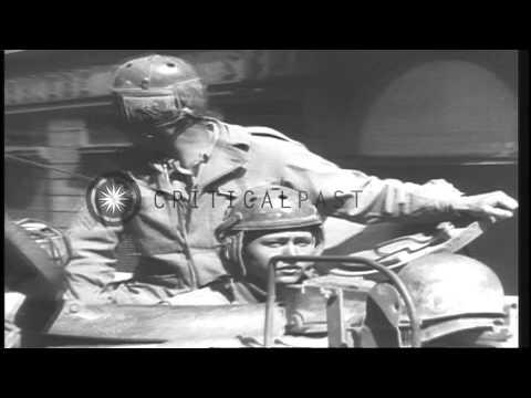 Civilians strike German officers after the Germans surrender in Milan, Italy duri...HD Stock Footage