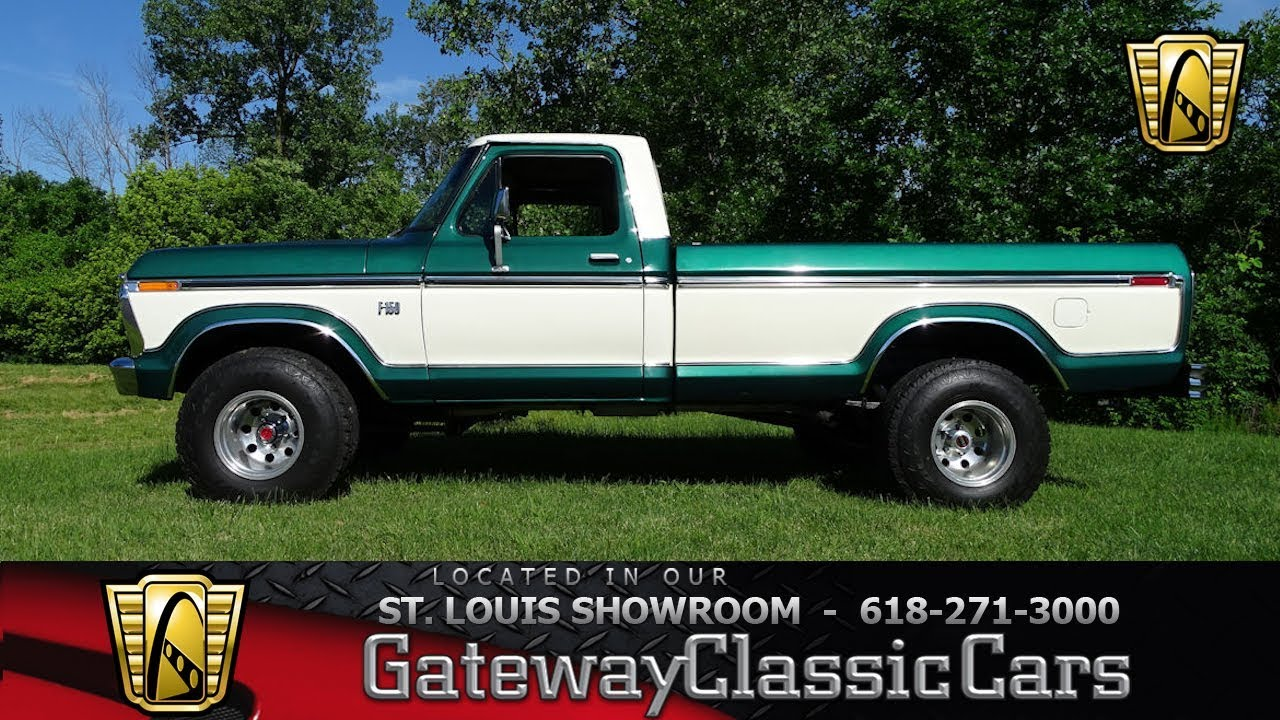 hight resolution of 1975 ford f150 4x4 stock 7723 gateway classic cars st louis showroom