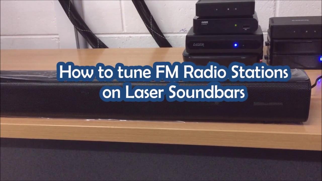 Laser Soundbars - How to Tune FM Radio Stations