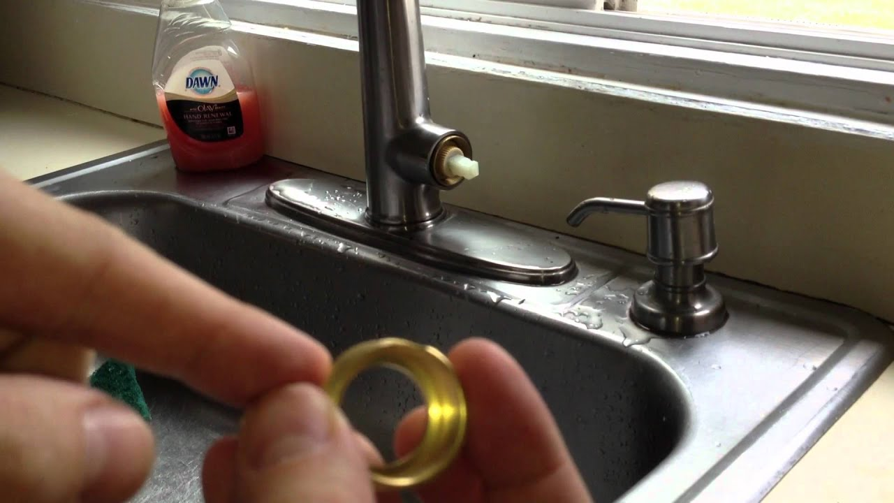 how to repair a dripping kitchen faucet how to fix a leaky kitchen faucet pfister cartridge youtube 1358