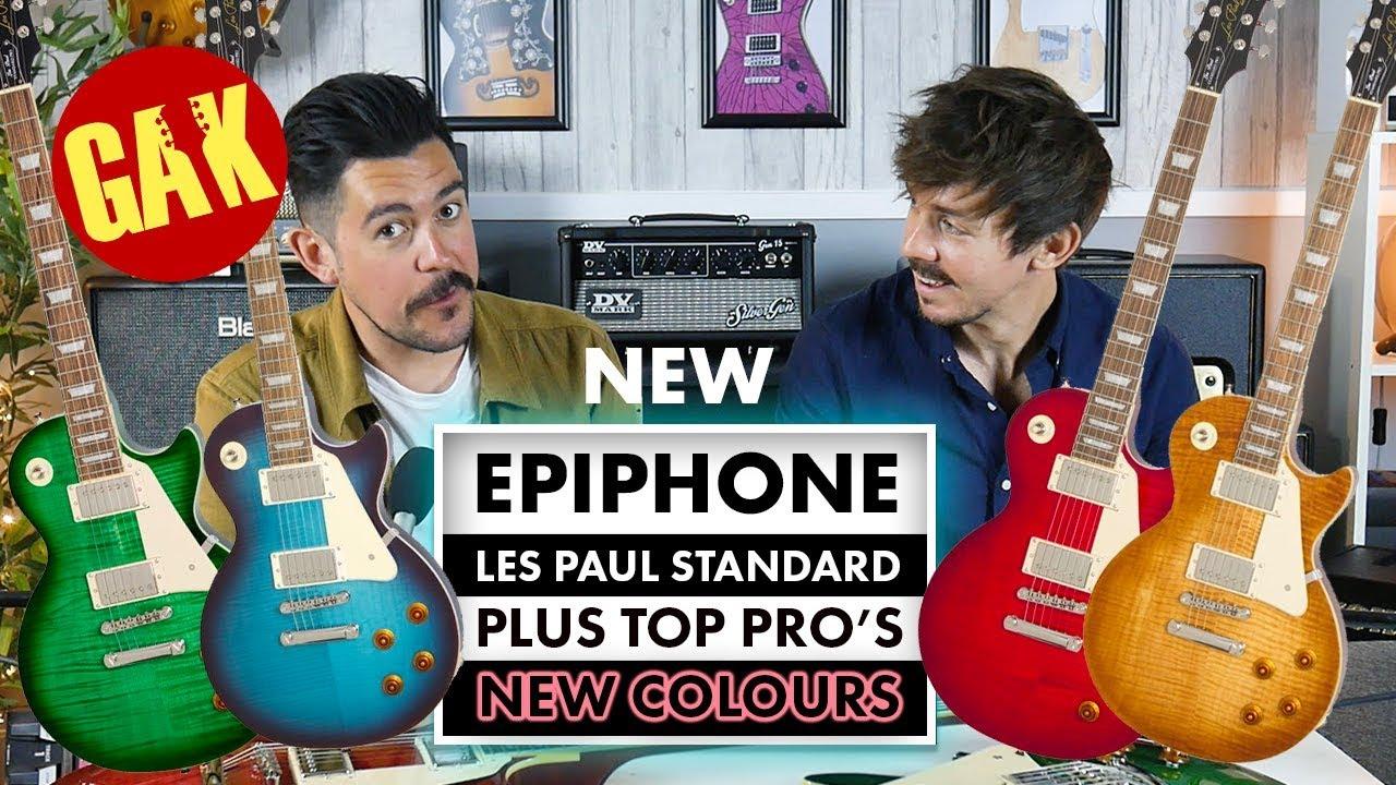 NEW COLOURS | Epiphone Les Paul Standard Plustop PROs