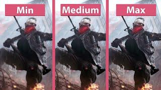 Homefront: The Revolution – PC Min vs. Medium vs. Max Graphics Comparison