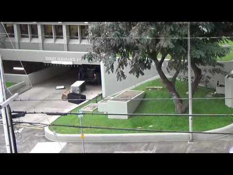Truck runs into over hang at the Maui County Building 2/28/2017