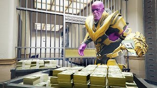Bank Robbery With THANOS in GTA 5