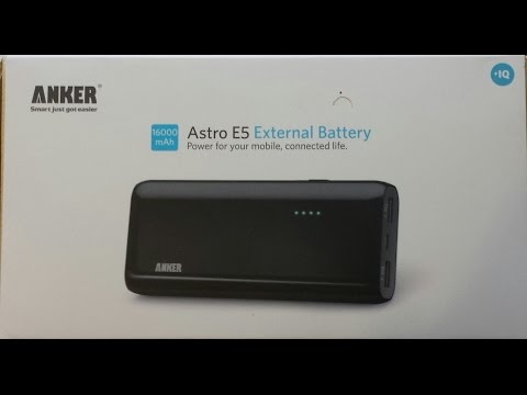 Anker, Portable Phone Charger, External Battery,16000mAh, Astro E5,  Product Review