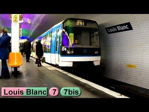 Métro de Paris: Louis Blanc | Ligne 7 - Ligne 7 bis ( RATP MF77 - MF88 )