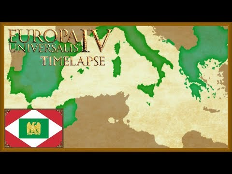 Europa Universalis 4 - The forming of Italy - Milan Timelapse (Rights of man)
