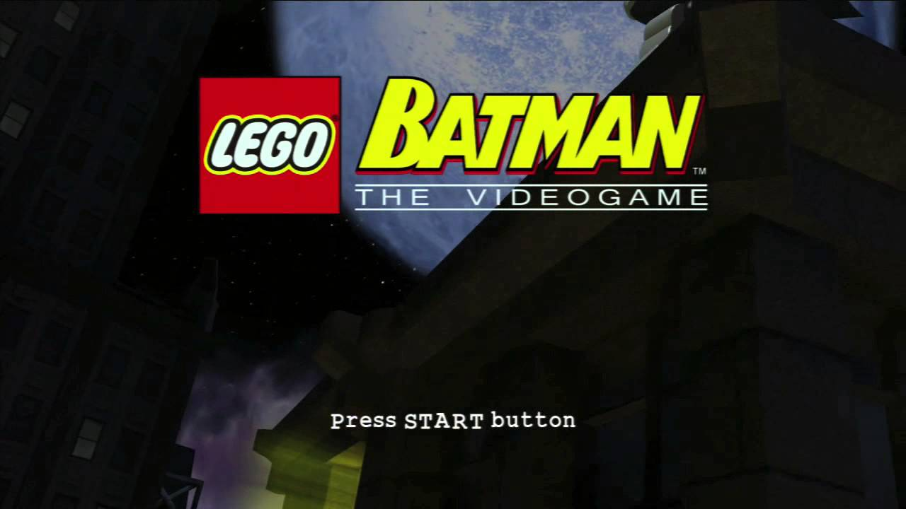 Lego Batman The Game Title Screen Xbox 360 PS3 PC Wii