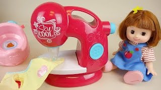 Baby Doll Sewing machine making mini bag toys